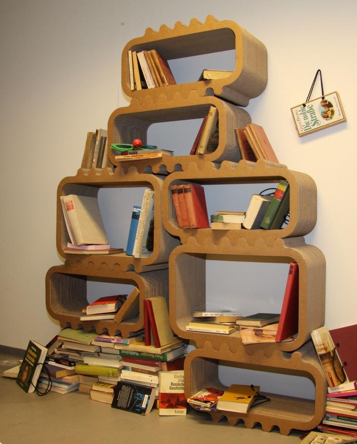Corrugated Cardboard stacking open shelves