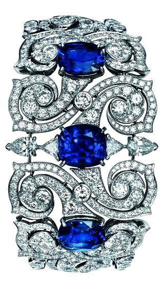 TS Cartier jewelry bracelet – a little platinum, sapphires, & diamonds to express your personality-bold and beautiful! j