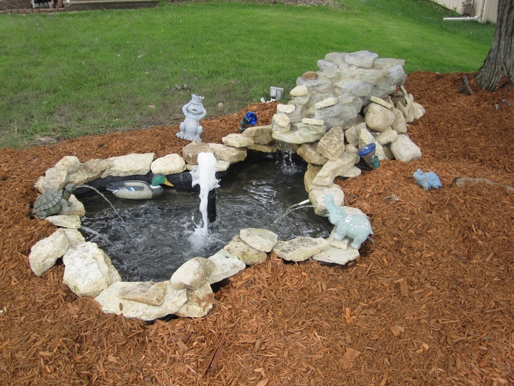 Pin by diana foster on diy pond ideas water gardens for Homemade pond ideas