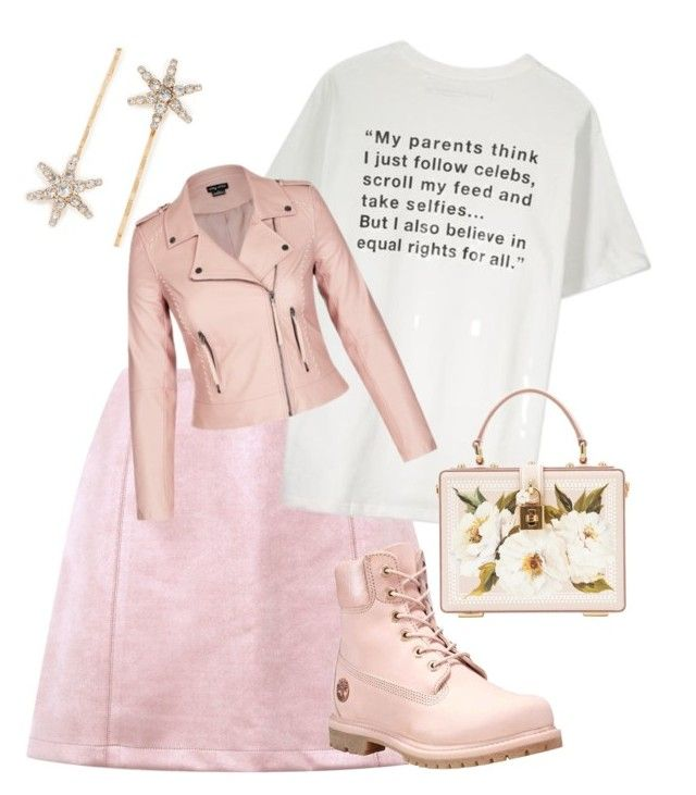 """""""A Chill Goes Through Her Veins"""" by dasha408465 on Polyvore featuring мода, Jennifer Behr, Timberland и Dolce&Gabbana"""