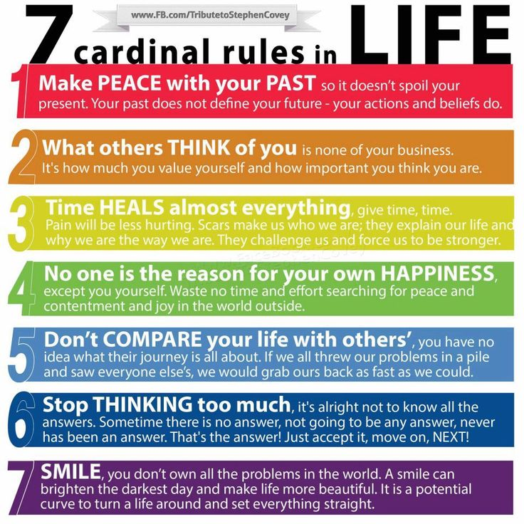 7 Rules~a very worthy re-pin and excellent reminder!