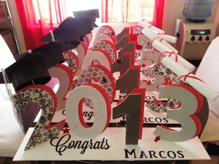 High+School+Graduation+Table+Centerpieces ... Table Centerpieces on ...