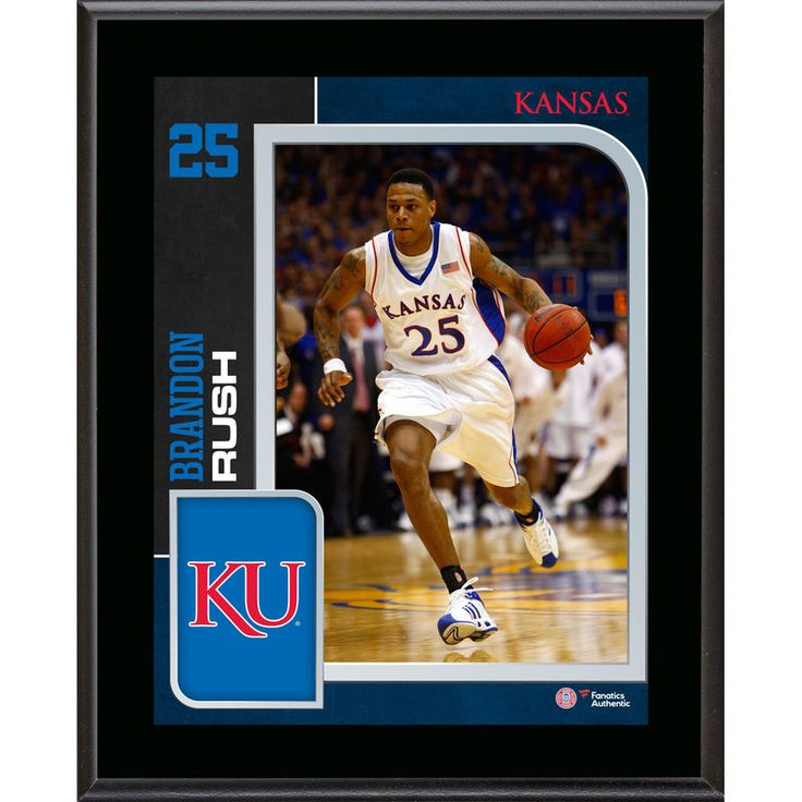 "Brandon Rush Kansas Jayhawks Fanatics Authentic 10.5"" x 13"" Sublimated Player Plaque"