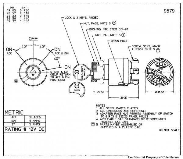 universal ignition switch wiring | diagram, diagram chart, wire  pinterest
