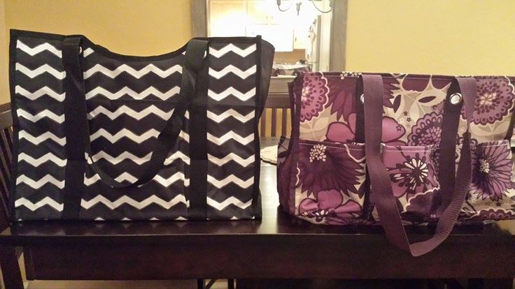 All-Day Organizing Tote (left) vs. the Organizing Utility Tote (right)