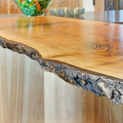 Live edge wood countertop design ideas pictures remodel for Finishing live edge wood