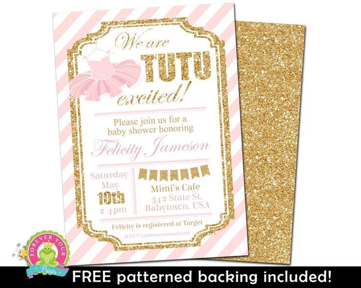 Girls Baby Shower Invitations - Tutu Baby Shower Invitations - Glitter Baby Shower Invite - Ballerina Baby Shower Invitations - Tutu Invite by ForeverYourPrints on Etsy https://www.etsy.com/listing/75764117/girls-baby-shower-invitations-tutu-baby