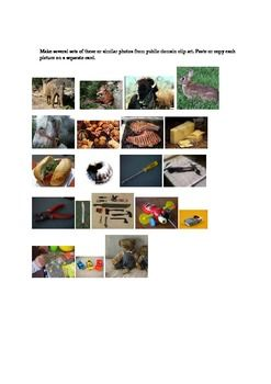 This is a short exercise in critical thinking that students can use to examine how they see their world in terms of cultural assumptions.   They will have a chance to group 20 objects in similar categories and then will see how a different culture will group the same objects.