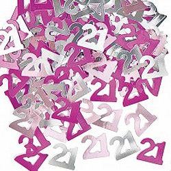 M55203 - Confetti - Happy 21st Birthday Pink Confetti Happy 21st Birthday Glitz Pink 14g foil (Choking Hazard, not suitable for children under 3). Please note: approx. 14 day delivery