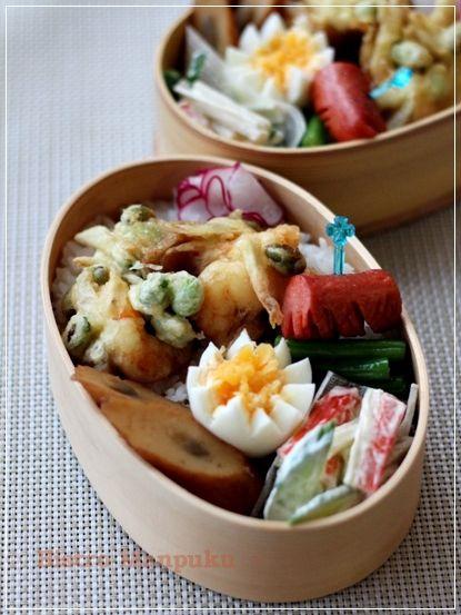 海老と枝豆とごぼうのかき揚げ