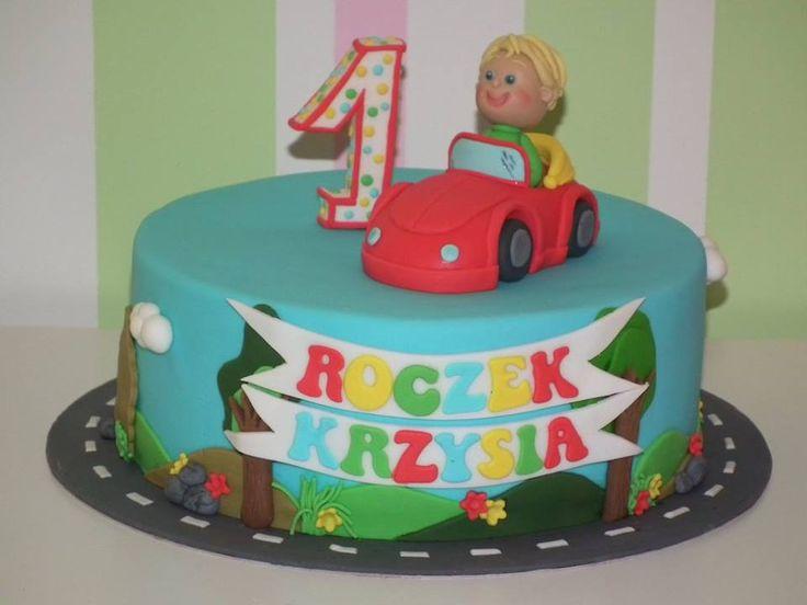 Tort samochodzik/ Red car cake