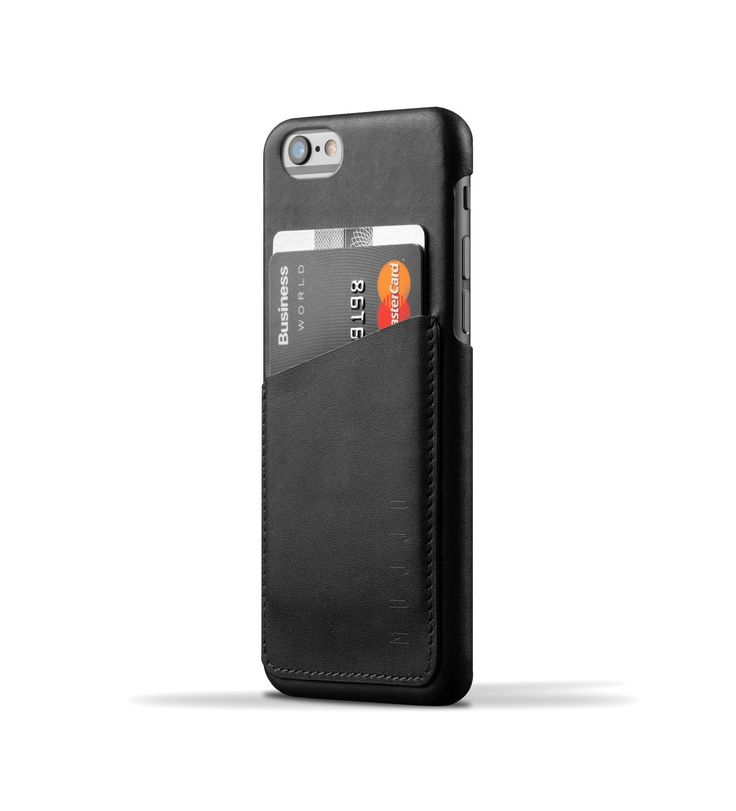 Leather Wallet Case for iPhone 6 - Black