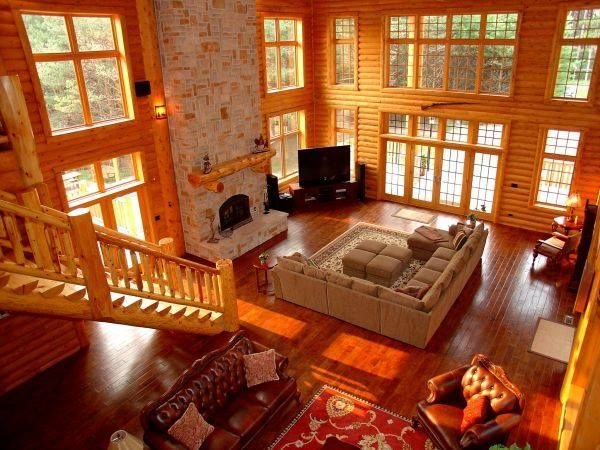 162 best Log Cabins and furniture images on Pinterest | Log houses Log Home Designs Open Kitchen Living Area on open living dining space, luxurious open house designs, open space home designs, open floor plan house designs, space room designs, open kitchen living dining room designs,