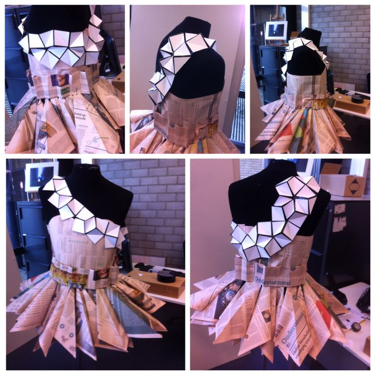 Eindontwerp vormpjes kledingstuk.