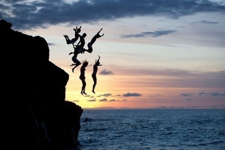 Cliff Jumping - #8 - DONE!  But not a big one like this.  Regardless, I'm terrified of heights & I did it.