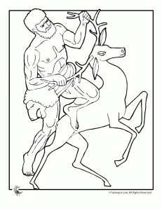 Greek Myths Coloring Page - Hercules
