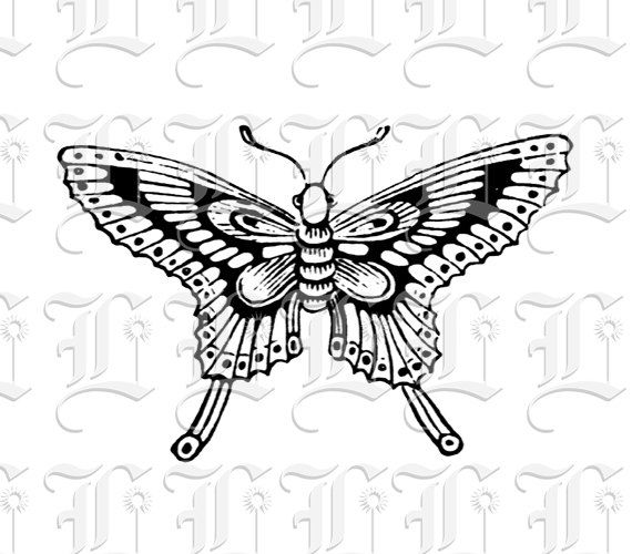 Butterfly Vintage Clip Art Illustrations by luminariumgraphics, $2.20