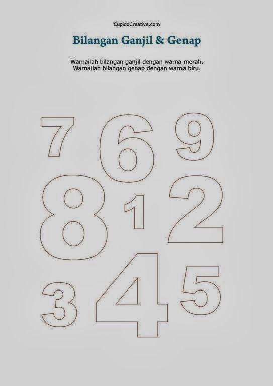 belajar bilangan 1 sd, angka ganjil & genap untuk anak
