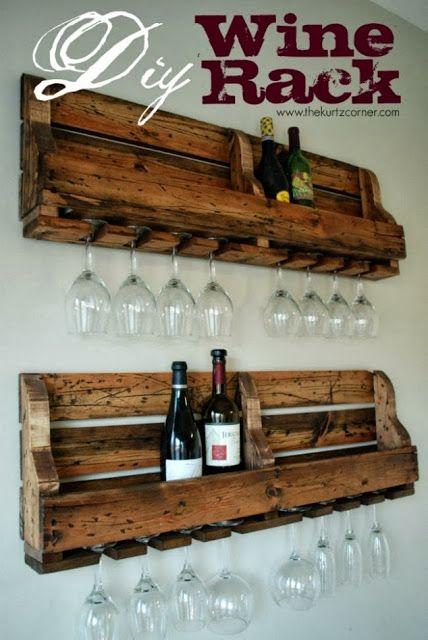 DIY Inspiration -- Stunning Rustic Wine Rack Perfect for displaying your wine bottles| Great Halloween Ideas. #shabby_chic, #vintage, #rustic