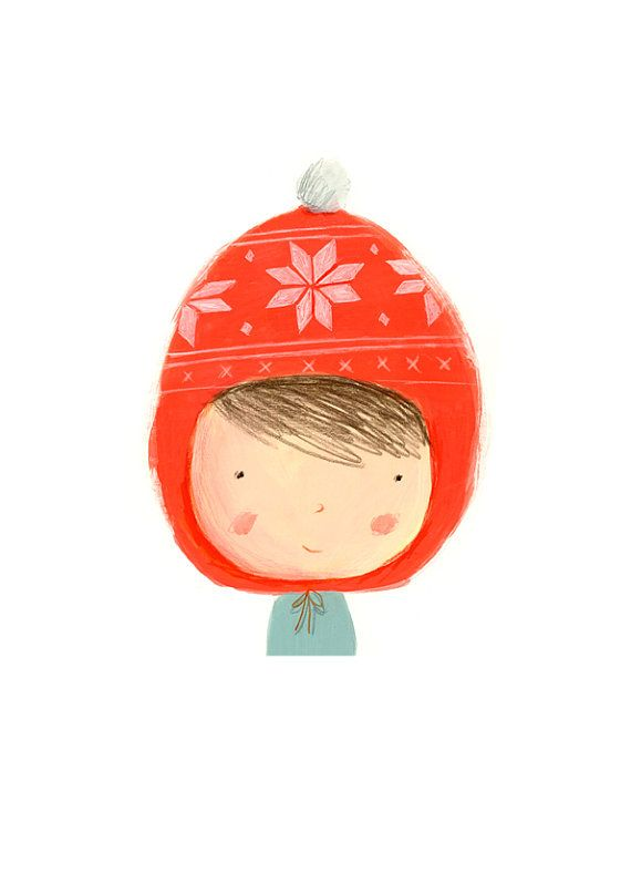 RED HAT  digital print by begela on Etsy. #bodenxmaswishlist