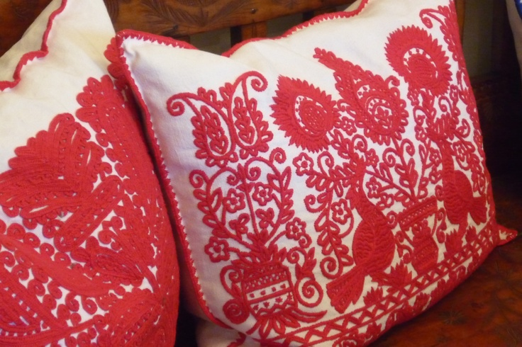 Cushions in the Bela Bartok memorial House, Budapest