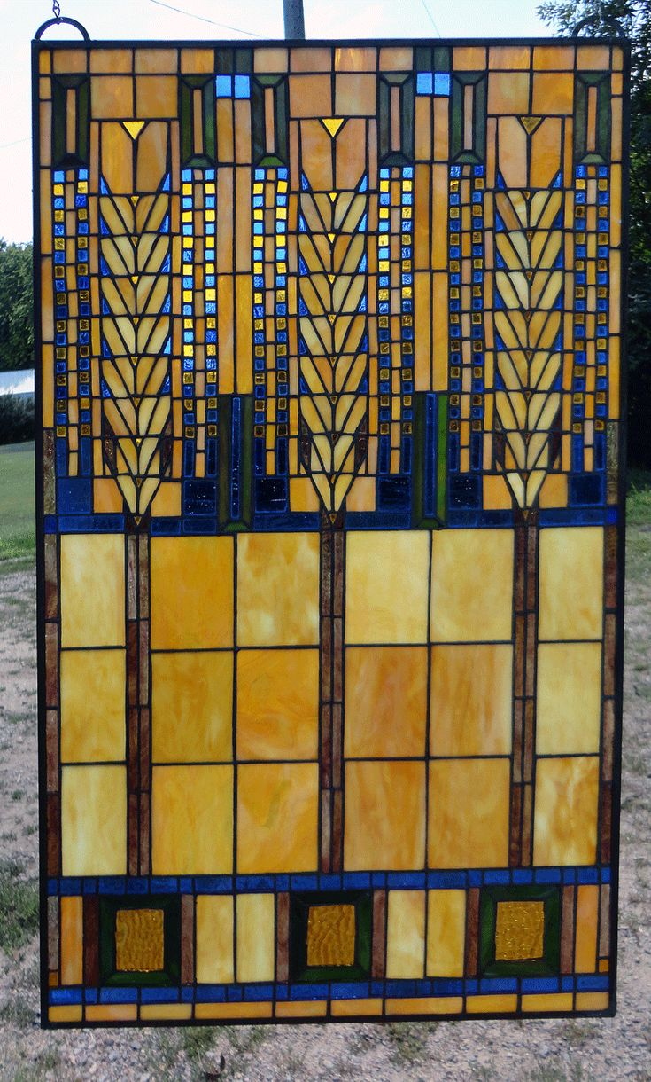 Arts and crafts style windows - Arts And Crafts Style Stained Glass