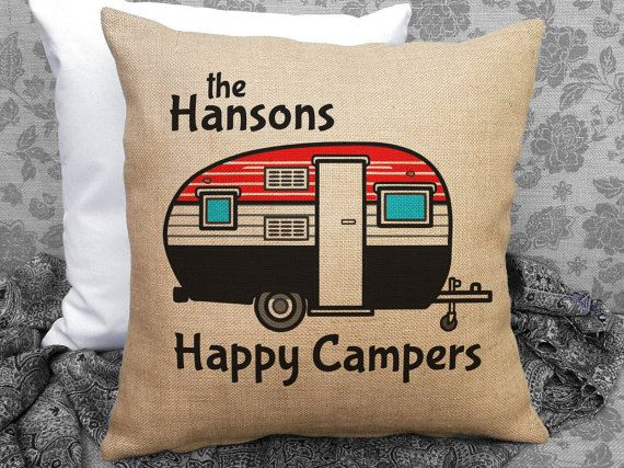Personalized Happy Campers Travel Trailer Decor by SweetPickleShop