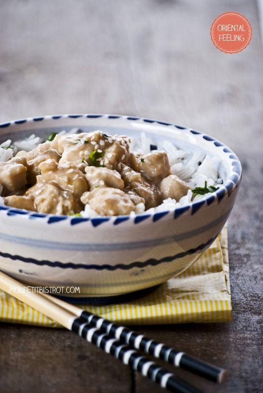 Mon petit bistrot: Pollo in salsa di soia e sesamo su riso pilaf