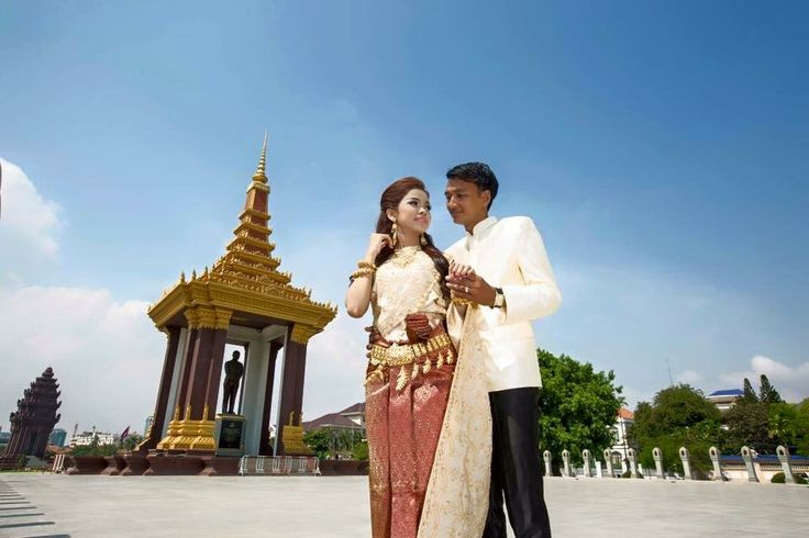 Khmer Wedding Outfit - Commonly used for reception - Red