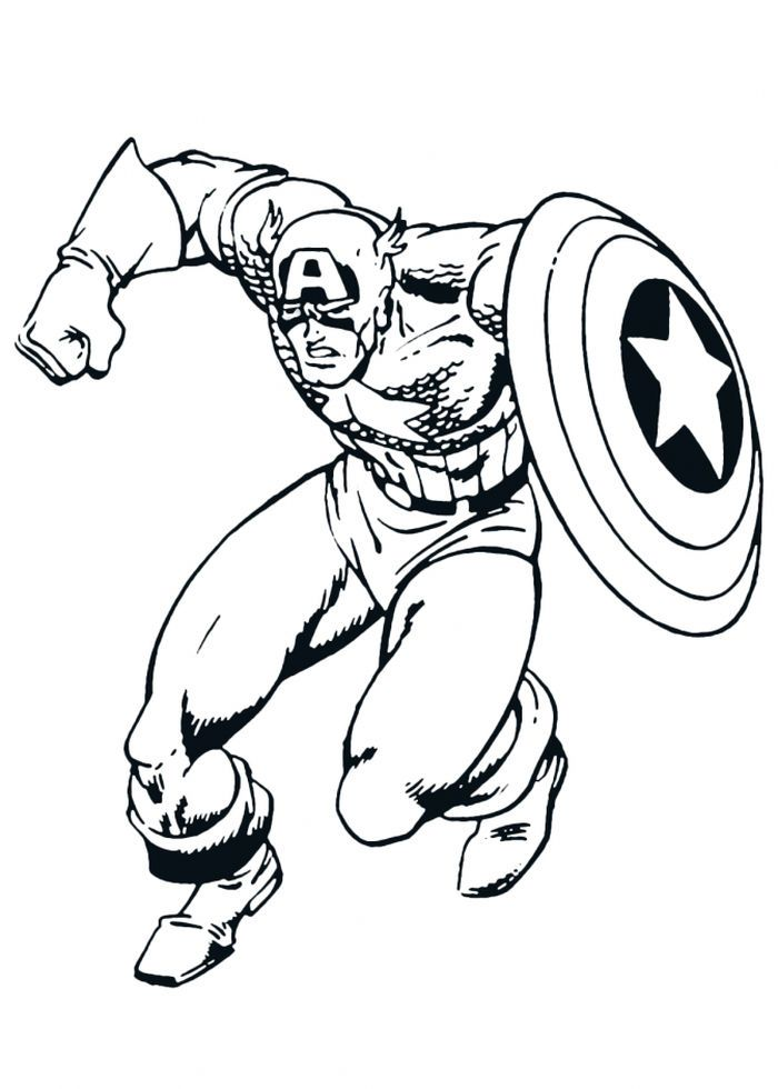 Captain America Shield Printable Coloring Pages From Captain