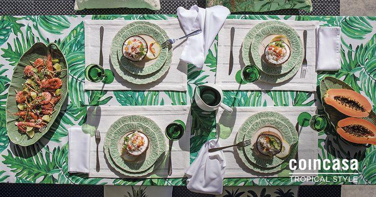 La parola d'ordine a tavola è una soltanto: JUNGLE!La collezione Tropical Style di Coincasa veste il momento del convivio di irresistibili motivi tropicali e di verde, in tutte le sue naturali sfumature. Scopri di più su www.coincasa.it