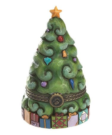 Take a look at this Christmas Tree Treasure Box by Jim Shore on #zulily today!