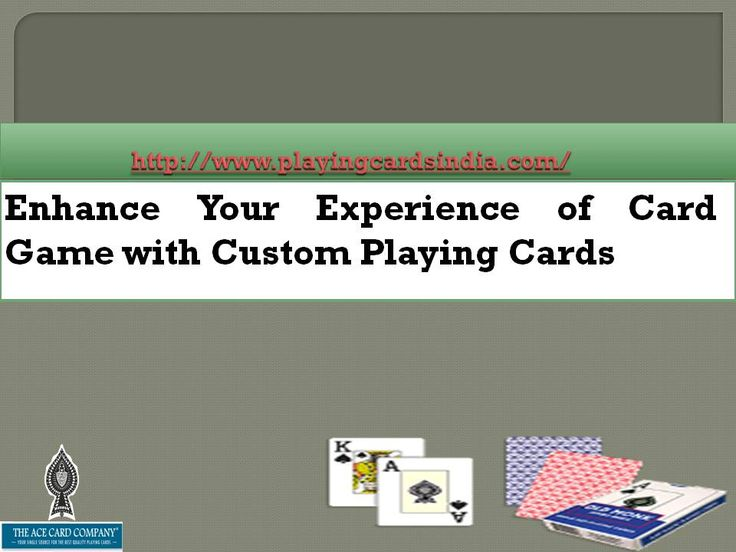 where to buy best custom playing cards Custom Playing Cards or Personalized Playing cards are same they can be in Poker or Bridge Size these playing cards are best used for Brand Promotion. http://www.playingcardsindia.com/