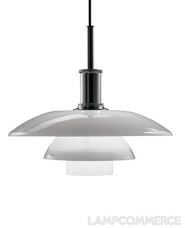Louis Poulsen PH 4 1/2-4 Glass hanging lamp Design Poul Henningsen