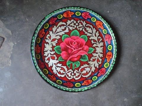 D I Y Hand Painted Plate Using Acrylic Paints Truck Art Youtube Hand Painted Plates Truck Art Painted Plates