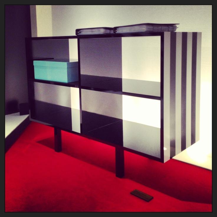 #simbolo sideboard, design Garilab by Piter Perbellini for #altreforme @iSaloni 2013 #interior #home #decor #homedecor #furniture #aluminium #blackandwhite