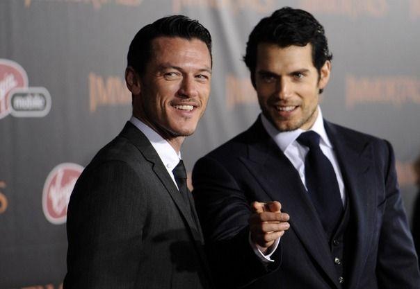 Luke Evans and Henry Cavill - The new Superman movie will be awesome. because I mean....look!