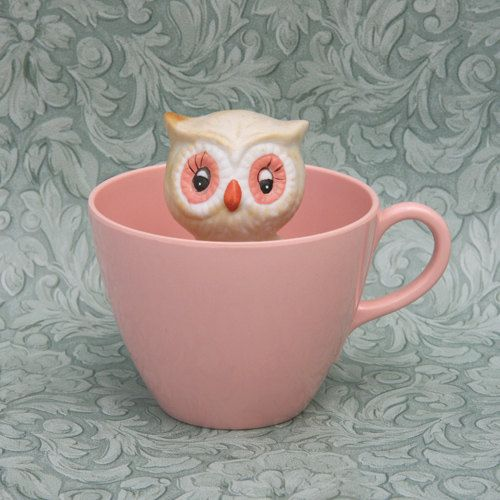 Peek a boo owl coffee cup