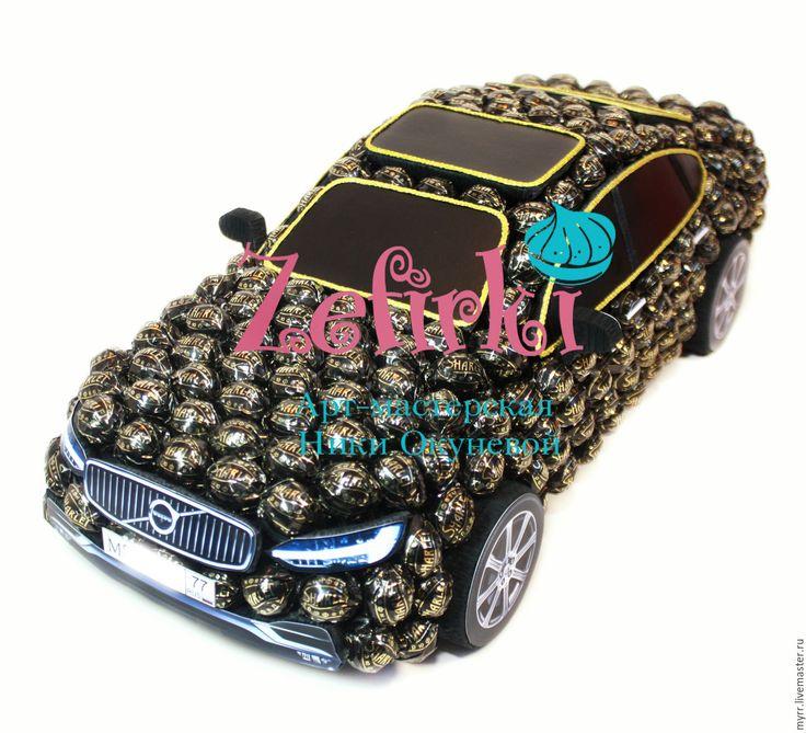 Купить Машина из конфет Volvo S90 2106 машинка подарок мужчине мужу водителю - черный