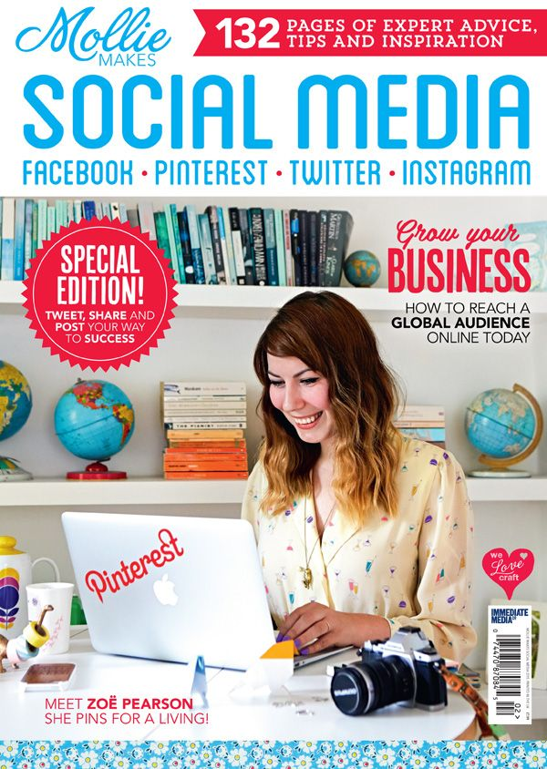 How to Use Social Media to Grow Your Small Business, ebook for sale from @molliemakes