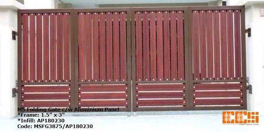 Wrought Iron Folding Gate