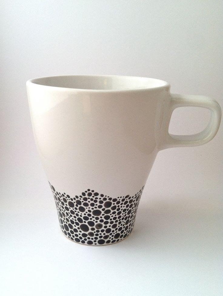 / handpainted coffee mug  #handmade