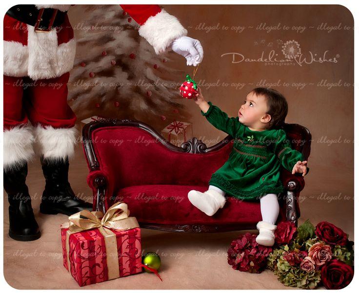 Upscale & creative baby Christmas portraits become... your baby as {Art}™!  Photo studio in Washington DC Area ~ near Arlington VA.