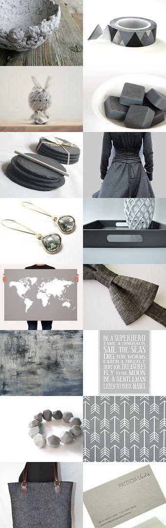 Grey Grey Grey ! by Esther Lagarde on Etsy--Pinned with TreasuryPin.com