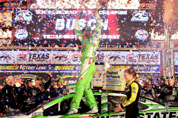 2016 Season Review: Kyle Busch  By RJ Kraft | Monday, December 26, 2016  -    A week later, Busch completed another weekend sweep -- this one of the XFINITY and Sprint Cup variety at Texas. Busch surged late to lead the final 33 laps for his second win of 2016. The win was his second at the 1.5-mile track and marked his fourth straight win in a NASCAR national series race.  -    Photo Credit: Getty Images