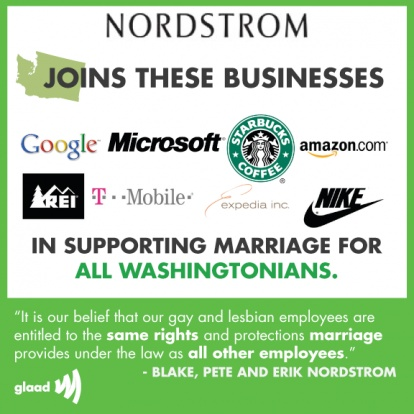 Google, Nike, Amazon, Other Corps Support WA Marriage Equality In Full-Page Ad