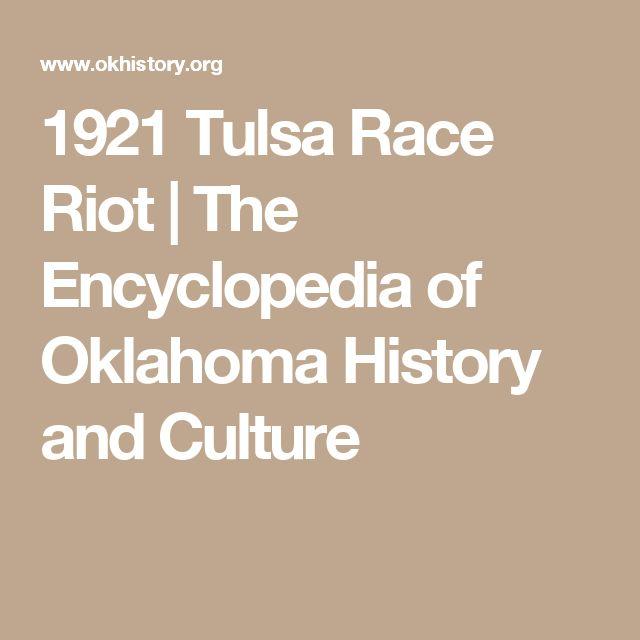 1921  Tulsa Race Riot | The Encyclopedia of Oklahoma History and Culture