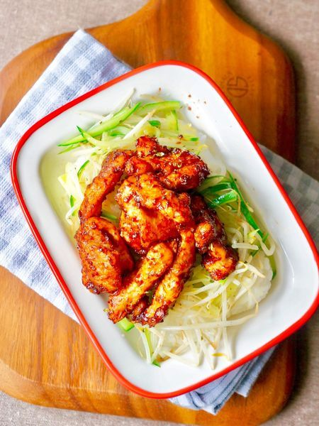 とりのむね肉で✳︎ご飯がすすむ✳︎「中華味噌丼」