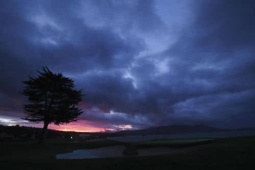 General view of the sunrise on the 18th hole at the AT&T Pebble Beach Pro-Am golf tournament at Pebble Beach Golf Links.(Photo: Kyle Terada, USA TODAY Sports)     PEBBLE BEACH, Calif. – Few strolls in golf can match those taken in the AT&T Pebble Beach Pro-Am, where pros and...  http://usa.swengen.com/pros-weigh-in-on-the-celebrity-lows-highs-of-the-pebble-beach-pro-am/