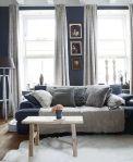 donkerblauwe muren in de slaapkamer